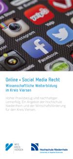 Flyer-Deckblatt Online- und Social Media Recht 2018