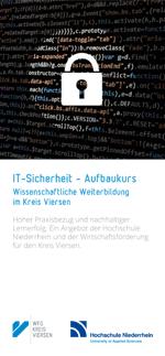 Flyer-Deckblatt IT-Sicherheit - Aufbaukurs 2018